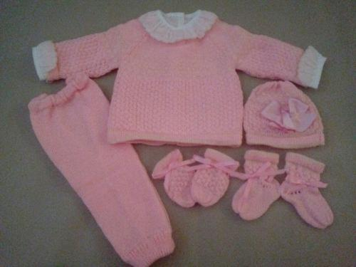 Ropa tejida para bebes recien nacidos 0-3 meses