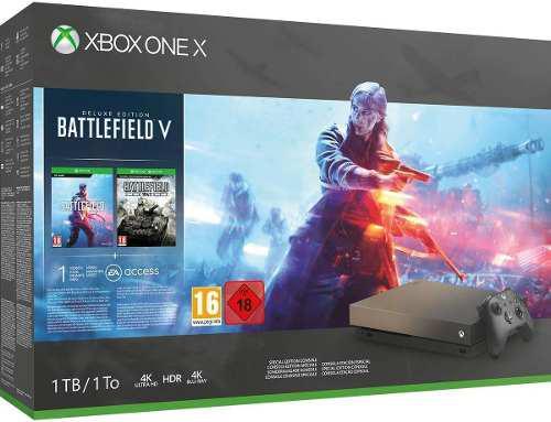 Xbox one x 1tb 4k hdr edicion especial oro