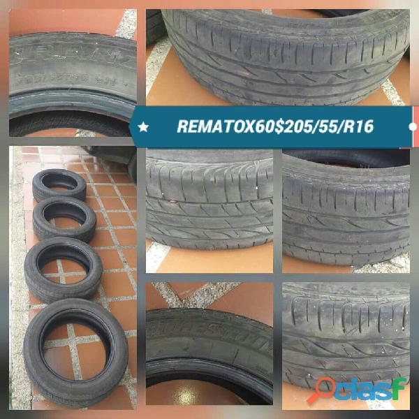 VENDO 04 CAUCHOS CON 60% DE VIDA 205/55/R16