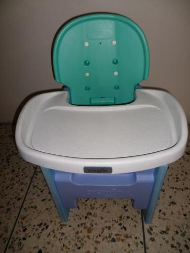 Mesa y silla para niño evenflo
