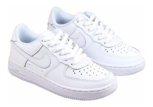 Zapatos nike air force one niños niñas todo blancos