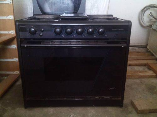 Cocina 6 hornillas negra mabe