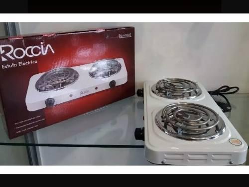 Cocina eléctrica portatil dos (2) hornillas.