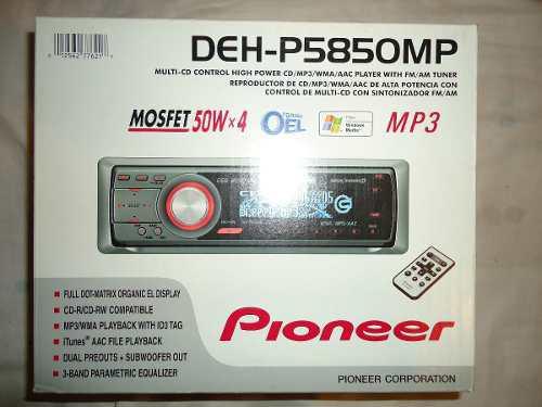 Equipo de sonido pionner (nuevo) modelo deh-p5850mp