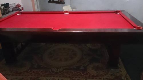 Mesa de pool + tacos + jgo bolas + taquera + triangulo