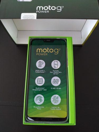 Motorola g7 power 64 gb liberado !!! 5000 mah!!! de batería