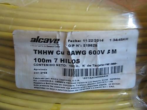 Cable nro 10 y 8 100% cobre (nacional importado)