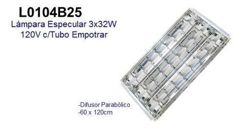 Lampara especular 3x32 p/empotar con tubos oferta