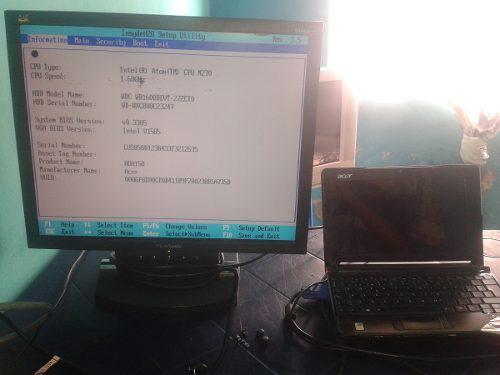 Mini laptop acer zg5 completa para repuesto