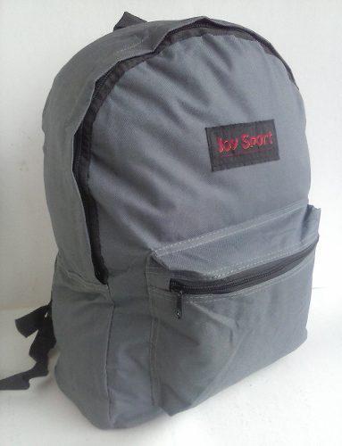 Morral bolso para niños niñas escolar sencillo gris