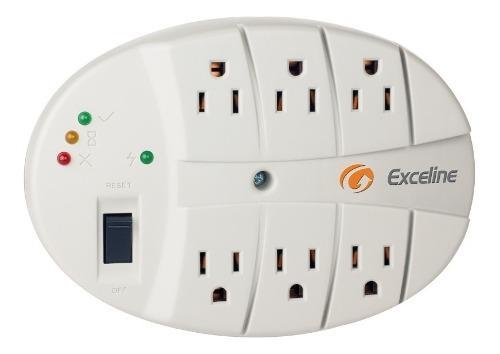 Protector de voltaje multitoma exceline 6 tomas filtro ruido