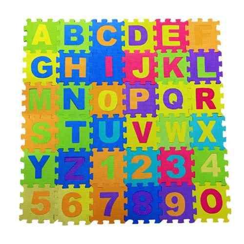 Alfombra didáctica de foami letras y números 36 pzas