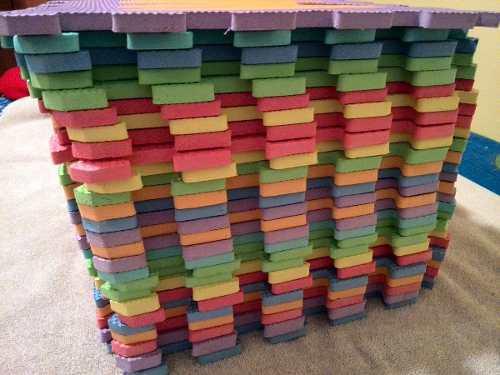 Alfombra piso de foami para bebes 30x30 abecedario 26 piezas