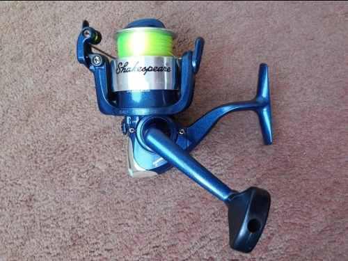Caña de pescar y reel shakespeare spinning pesca nylon