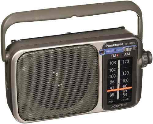 Panasonic rf-2400d radio portátil am/fm funciona 110v