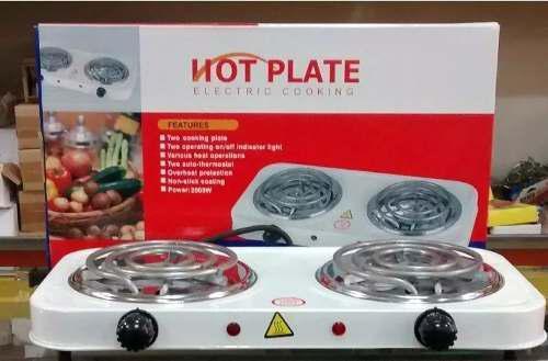 Cocina eléctrica hot plate de dos (2) hornillas portátil