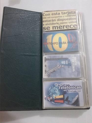 Colección de tarjetas de teléfonos antiguas