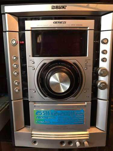 Equipo De Sonido Sony Genezi Mhc-gnx80 4 Cornetas + 1 Bajo