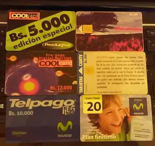 Lote de 68 tarjetas telefónicas (telpago, unica, cantv,
