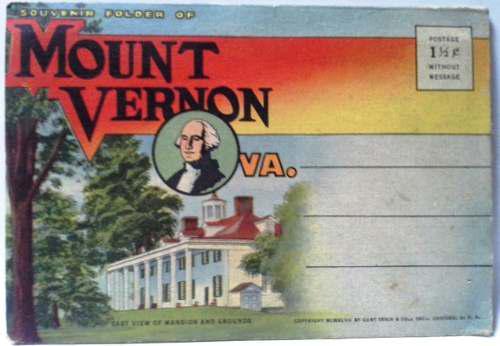 Cuaderno De Postales Vintage Años 40 Mount Vernon Coloreado