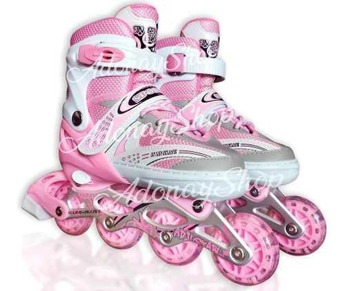 De regalo patines en linea ruedas de silicon luces led