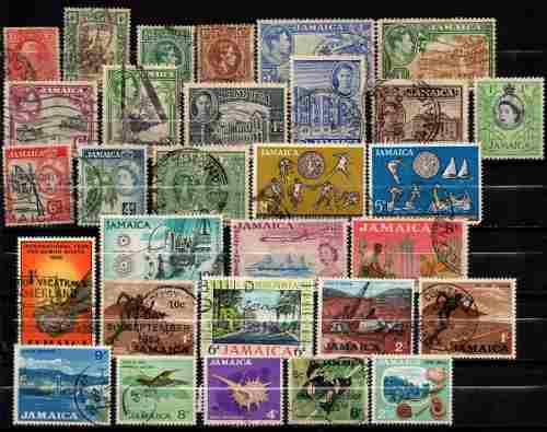 Estampillas Jamaica Lote 401 Usadas