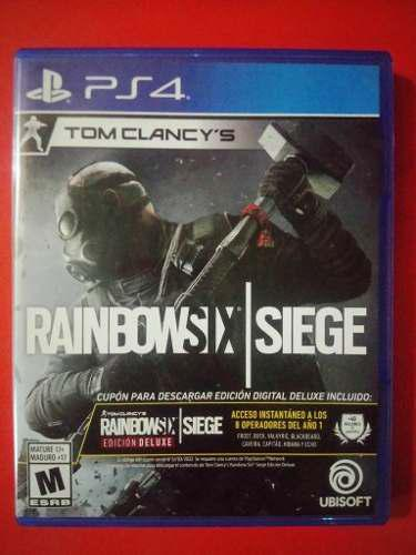 Juego ps4 rainbow six: siege edicion deluxe nuevo