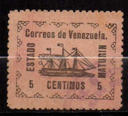 Lag Estampilla Venezuela 1903 Usada