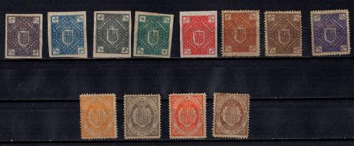 Lag Estampillas Andorra Española 1875 Nuevos