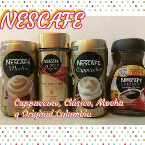 Nescafe cappuccino, clásico, mocha y original colombia