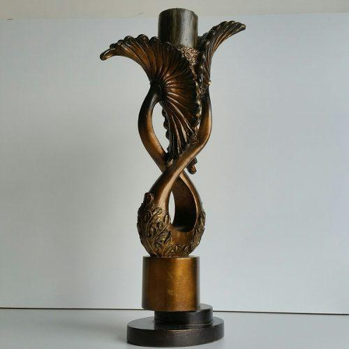 Candelabro de madera decorativa tallado a mano gran tamaño