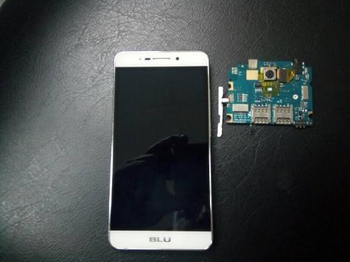 Carcasa tactil pantalla tarjeta blu hd s090q