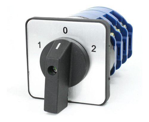 Conmutador o selector 3 posiciones 125 amp (75 verdes)