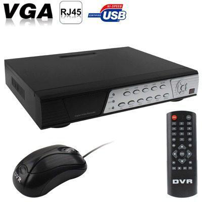 Dvr Vigilancia 4ch H.264 Red Disco Duro Grabador Vid Uwvc
