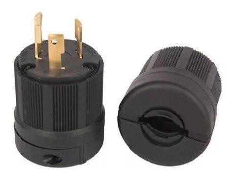 Enchufe conector planta eléctrica 120v 30amp l6-30 3patas