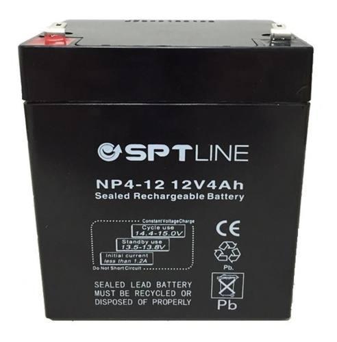 Pila bateria 12v 4ah sptline ups cerco electrico lampara
