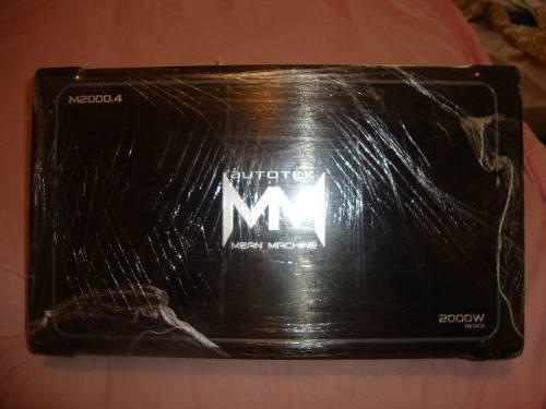 Planta O Amplificador 4 Canales 2000w Autotek Mean Machine
