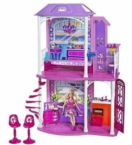 Casa barbie surtido de muebles y muñeca
