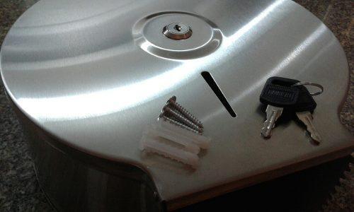 Dispensador papel acero inoxidable 9 all clean con seguridad