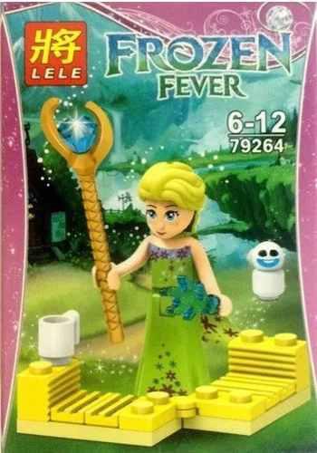 Juguete armable lego frozen con accesorios. niña princesa