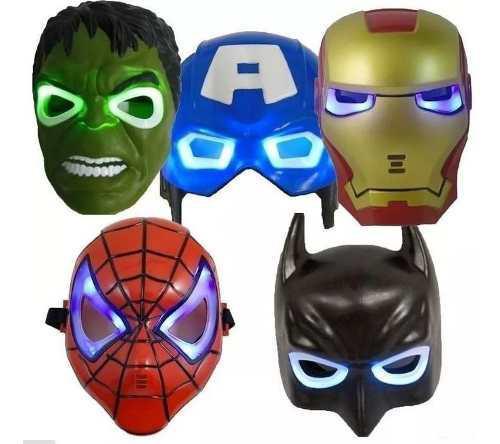 Juguete mascaras con luz iron man avengers somos tienda