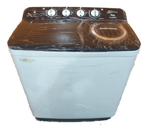 Lavadora doble tina semi automatica 9kg g deluxe (tienda)