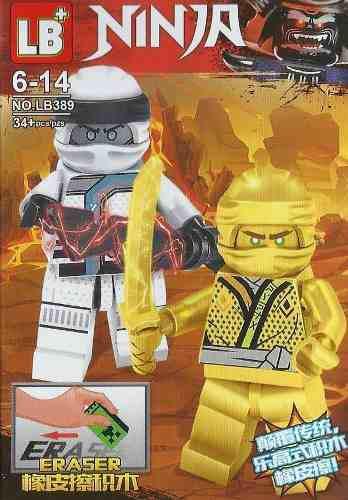 Lego juguete armable ninjago dorado con accesorios