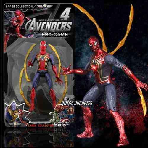 Muñecos spiderman thanos hulk thor capitan iron man pantera