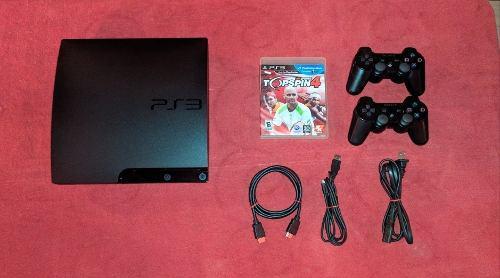 Playstation 3 slim 320gb + 2 controles + 6 juegos