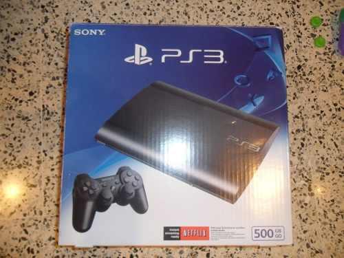Playstation 3 superslim 500 gb sony con accesorios