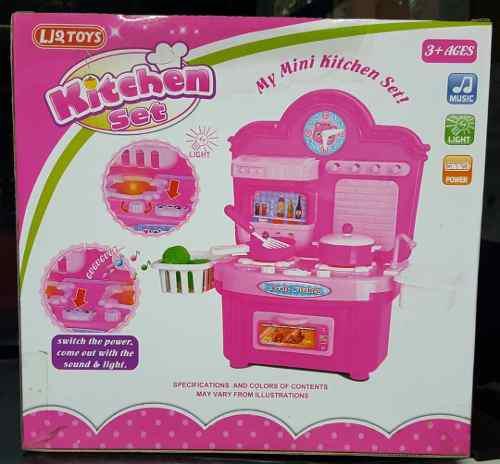 Set de cocina para niñas sonidos luces y accesorios