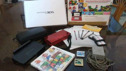Nintendo ds 3d rojo + accesorios
