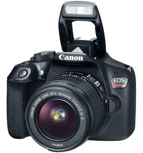 Camara profesional canon t6 eos rebel dslr kit premium 1lent