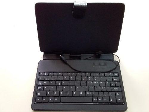 Estuche forro con teclado para tablet de 7